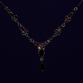 Silver and Garnet Necklace 114