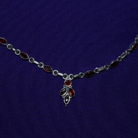 Drop Necklace with Garnet. 129