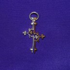 Silver and copper 2 piece cross