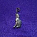 Howling wolf silver pendant
