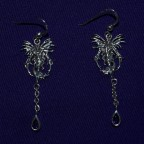 Fire Element Fairy Amethyst Earrings