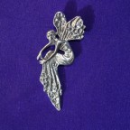 seated fairy silver pendant
