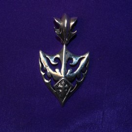 Gothic style silver pendant