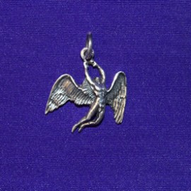 Male angel pendant silver
