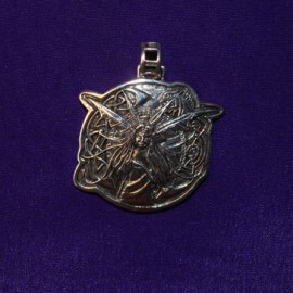 Celtic Fairy Silver Pendant