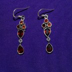 Granat Silver Earrings