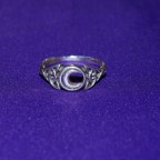 Celtic Moon Silver Ring