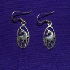 Unicorn Drop Silver Earrings