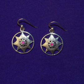 Be A Star Silver Earrings
