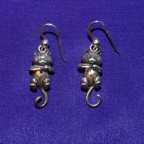 Cat Dangle Silver Earrings