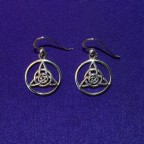 Encircled Druid's Amulet Silver Earrings