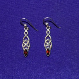 Celtic Dangle Silver Earrings