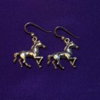Horse Silver Earrings
