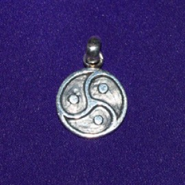 Wheel Of Whips Silver Pendant