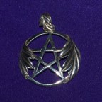 Oak Leaf Pentacle Silver Pendant