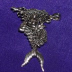 Movable Mermaid Silver Pendant