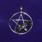 Pentagram Thong Silver Necklace