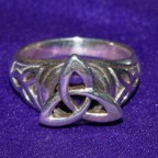 Celtic Triquetra Spinner Silver Ring