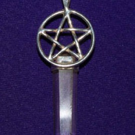 Pentacle Point Silver Pendant