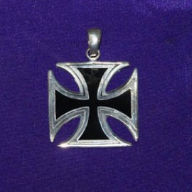 Iron Cross Black Silver Pendant