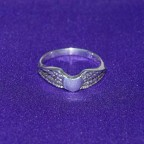 Flying Heart Silver Ring