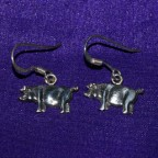 Pig Silver Earrings