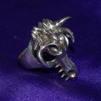 Dragon Skull Silver Ring