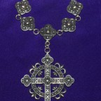 Large Cross And Pippets Silver Silver Collar
