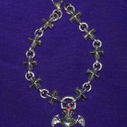 Crosses With Winged Heart Silver Bracelet