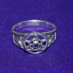 Celtic Purple Stone Silver Ring