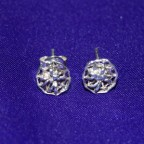 Spider Web Silver Earstuds