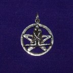 Handfast Pentacle Silver Pendant