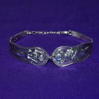 God And Goddess Cuff Silver Bracelet