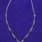 Garnat Silver Necklace