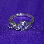 Celtic Cat Amethyst Silver Ring
