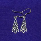 Celtic Knot Silver Earrings