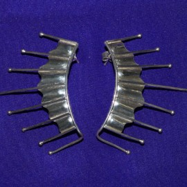 8 Prong Silver Earletts