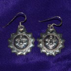 Suns Silver Earrings