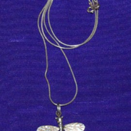 Woodland Dragonfly Silver Necklace