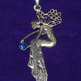Enchanted Fairy Silver Pendant