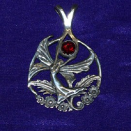 Butterfly Fairy Silver Pendant