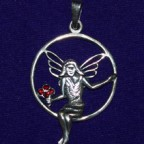 Graceful Fairy Silver Pendant
