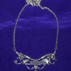 Celtic With Gem Amethyst Silver Necklace