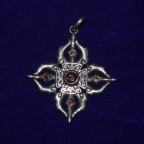 Iron Cross Shape Silver Pendant