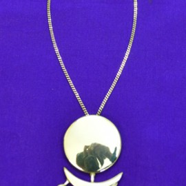 Full Moon Half Moon Silver Necklace