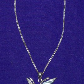 Fairy Firefly Silver Necklace