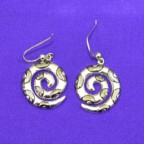 Spirals With Black Rhodo Silver Earrings