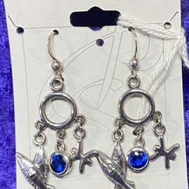 Pisces Earrings with Birthstone