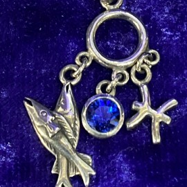 Pisces Pendant With Birthstone