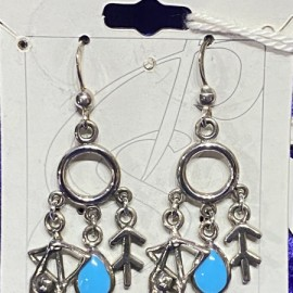 Sagittarius Earrings with Birthstone